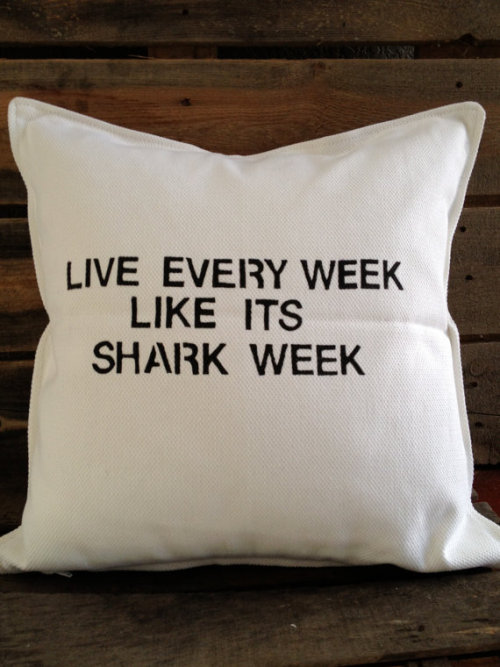 With Shark Week less than a month away (let's be real though, we love sharks every week) and we can't think of a better way to celebrate our love for the ferocious sea creature than with this awesome Etsy find. (source: Etsy.com)