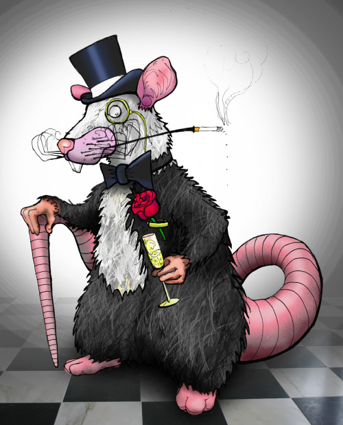 Monsieur Rat Drawn for a friend who loves Rats.