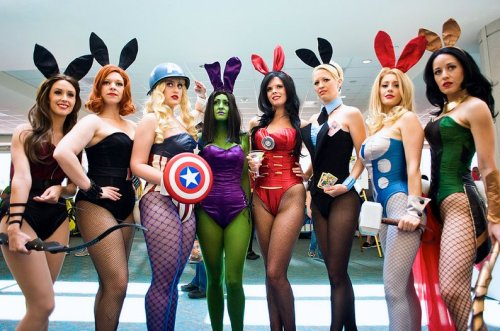 mymindsmadness:  nsfwgamer:  Playboy Avengers  I actually think this is really awesome. Props to Hulk bunny for going green  Genius billionaire playboy…bunny… »