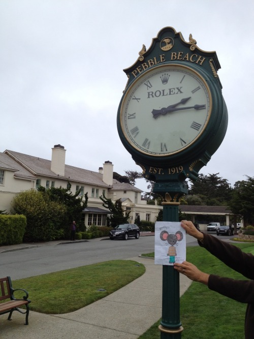 George loved visiting the famous Pebble Beach Golf Course and Lodge. Golf anyone?!