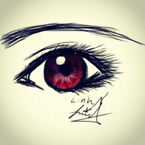 Another quick finger sketch of the eyes. I cant wait till my stylix pen comes 😊 so then i could draw more for you guys ! (Taken with Instagram)