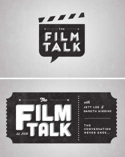 rawbdz:  Logo & t-shirt designs for The Film Talk podcast. More at www.patrickfloyd.com