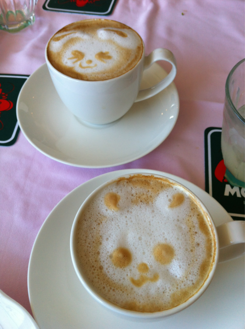 yummaystuff  cute teddy bear face coffee