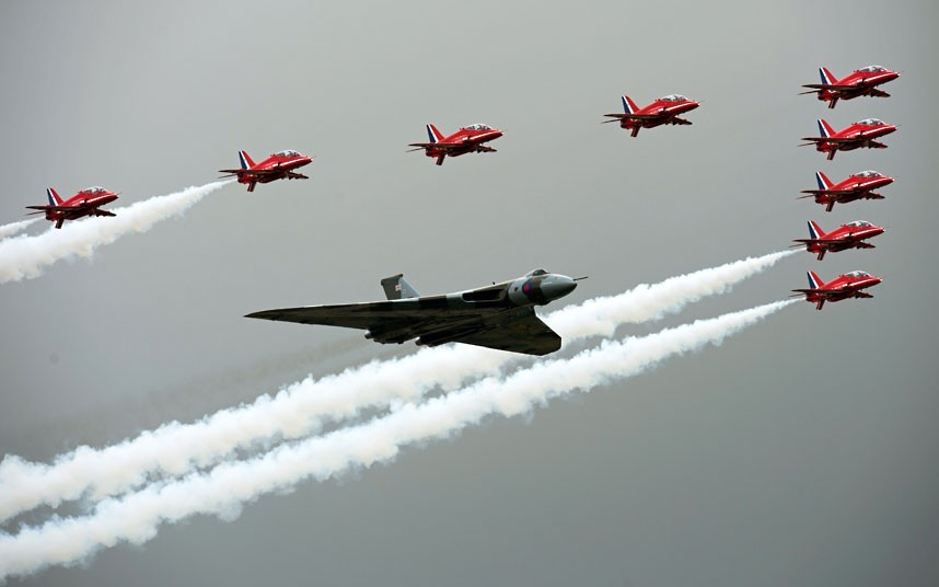 The Farnborough International Airshow 2012 in Hampshire. (via The Telegraph)