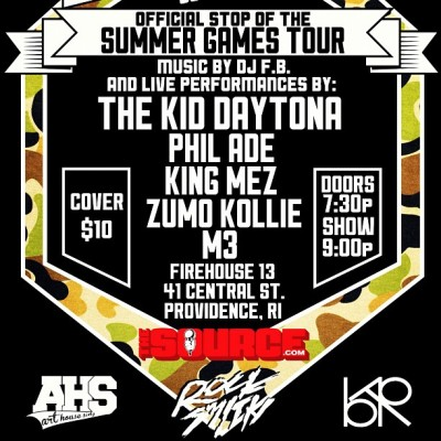 Catch us at Firehouse 13 tonight with @thekiddaytona @philade_rf @kingmez @zumokollie @m3tymes (Taken with Instagram)
