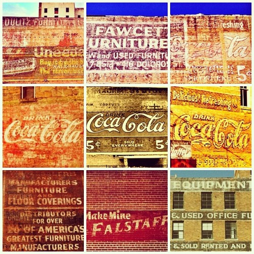 Ghost signs — Texas edition. (Taken with and posted from Instagram)