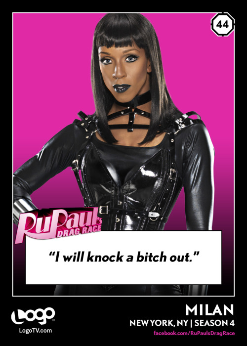RuPaul's Drag Race TRADING CARD THURSDAY #44: Milan