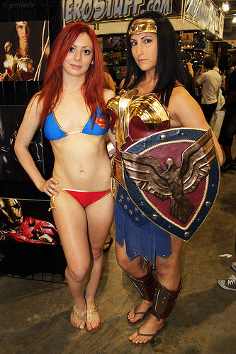 Supergirl bikini & Wonder Woman Philadelphia Comic-Con 2012 Submitted by greyloch
