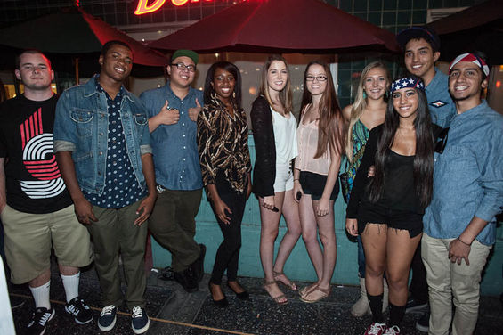 Me, my Brother and friends at the Frank Ocean Concert! We made it on LA Weekly!!!!