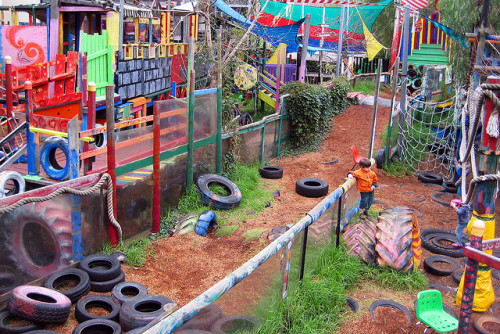 The St. Kilda Adventure Playground just outside of Melbourne, Australia. Check out Project for Public Space's great article on the return of adventure playgrounds—out with sanitized play structures and the compartmentalized play they encourage, in with creative play…..and creative cities! See the article to understand the connection. Photo Credit: Fernando de Sousa via Flickr