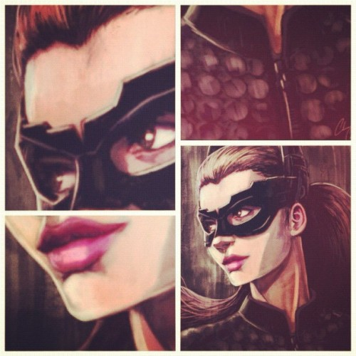 She's #adaptable! I'm done… But wait where is the #batman? #catwoman #darkknight #darkknightrises #t #painting #art #fanart #tdkr #calvinclyke #photoshop #paintporn # (Taken with Instagram)