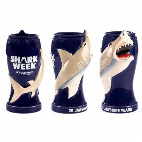 25 years?! ZOMG it's all happening!  (via Shark Week 25th Anniversary Collectible Tiki Mug)