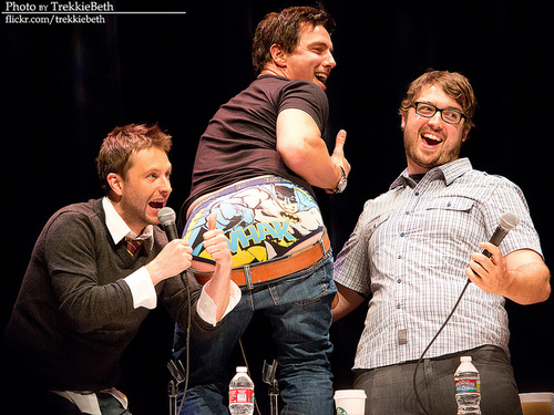 WHAK by trekkiebeth on Flickr.That would be John Barrowman wearing Batman undies. Yep.