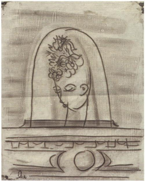 Lee Miller - Untitled (Under the Bell-jar), c.1930. … from Man Ray / Lee Miller : Partners in Surrealism by Phillip Prodger, Merrell Publishers Limited, 2011 … must be a study for the exquisite photograph, Tanja Ramm and Bell Jar, c.1930 by Lee Miller seen here courtesy of Billyjane …