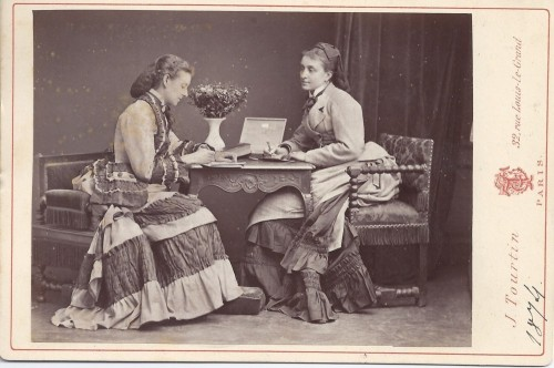 Two russian ladies reading. 1874