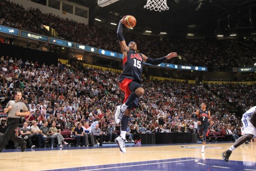 nba:   July 19, 2012: USA defeats Great Britain 118-78 in Manchester. England. (Photo by Nathaniel S. Butler/NBAE via Getty Images)