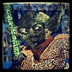 #Yoda#STARWARS#art#glass#green#blue#handmade#little#pieces#mosaic.  Just something I did in high school (Taken with Instagram)