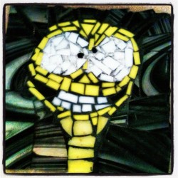 Cheese#mosaic#glass#little#pieces#fosters#yellow#crazy#epic (Taken with Instagram)