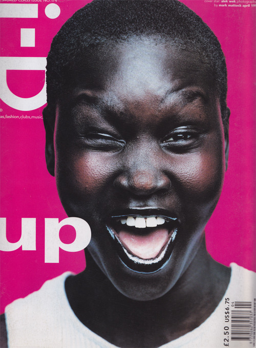 dinnerwithannawintour:  i-D April 1998, Alek Wek by Mark Mattock