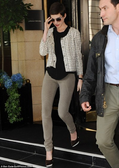 actress Anne Hathaway in London…