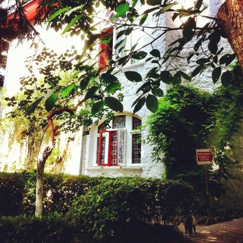#chekhov house in #yalta, where he wrote some plays. So awesome to see his study intact! #ukraine #crimea #literature (Taken with Instagram)