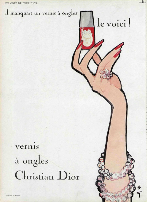modcloth:  A vintage Dior ad fit for a frame! (via Addie ♥)