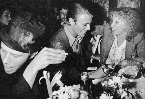 flavorpill:  Tom Waits, David Bowie, Bette Midler and other photos of awesome musicians hanging out together