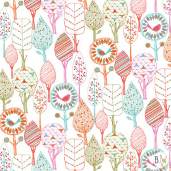 fun trees  surface pattern design by Bethan Janine copyright © Bethan Janine Westran 2012