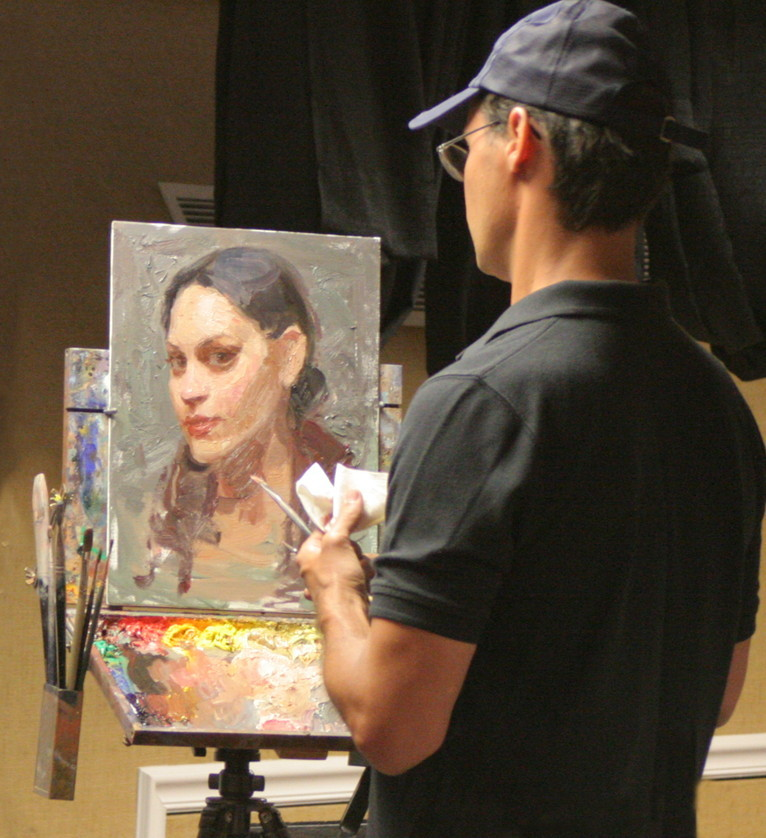 Scott Burdick portrait demonstration.  Photo by Ryan Mellody.
