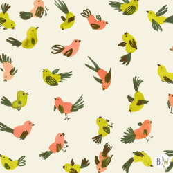 garden birds surface pattern design by Bethan Janine copyright © Bethan Janine Westran 2012
