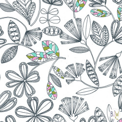 outline floral surface pattern design by Bethan Janine copyright © Bethan Janine Westran 2012