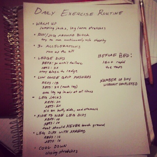My Official Workout Routine #workout #exercise #determined  (Taken with Instagram)