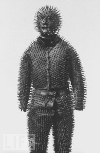 laughingsquid:  Siberian Bear-Bunting Armour, c.1800s