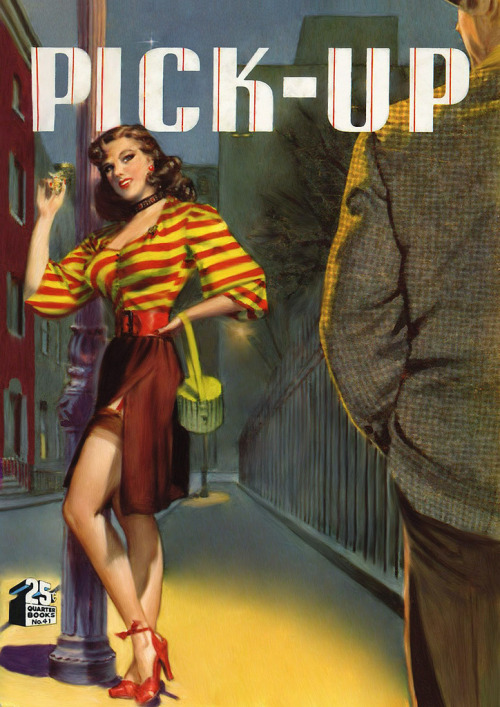 """How Bad Can A Girl Get?"" Pick-Up written by Harmon Bellamy, cover art by George Gross, 1949"