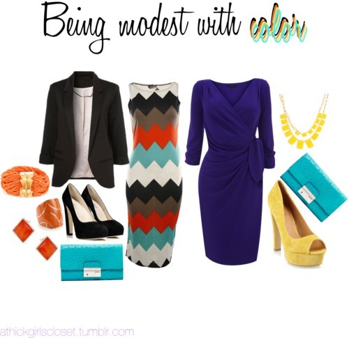 Being modest with color by athickgirlscloset featuring print dresses