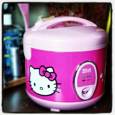 ditchingit:  Just bought a #hellokitty rice cooker. Is my #Asian showing? (Taken with Instagram)