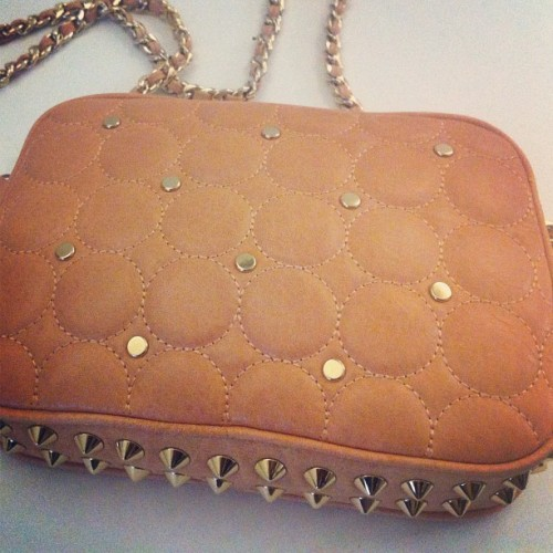 The studded details on this Rebecca Minkoff Flirty Quilted Mini Bag is Pretty much the Cat's Pajama's! #rebeccaminkoff #summer #handbags #crossbody (Taken with Instagram at Handbags.com HQ )