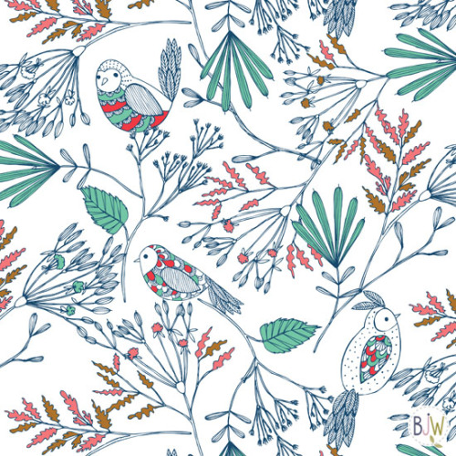 pattern birdies surface pattern design by Bethan Janine copyright © Bethan Janine Westran 2012