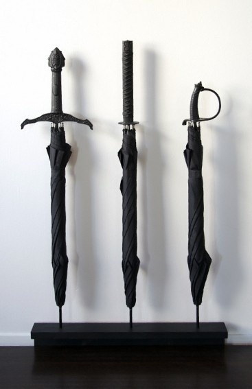 Sword umbrellas fit for men of the Night's Watch (and then that thin one for Arya, of course haha)