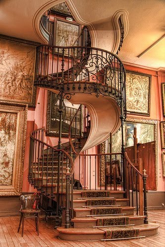 Wrought Iron Spiral Staircase at Casterly Rock