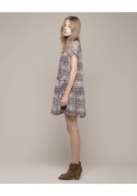 my spring look..plenty of delicate dresses worn with ankle boots.