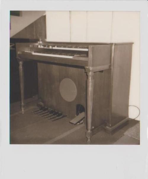 Here it is; a real Polaroid photograph of the real Hammond organ that just arrived in the studio. It's an M3 in perfect working condition and ready to be part of your next record.The Hammond organ was big part of of the 60's music scene proving to be popular with everyone from Bob Dylan to Sly And The Family Stone.In case you're still having trouble getting idea of what this instrument sounds like then take a quick listen to Green Onions    recorded by Booker T. and The MG's when he just 18 years old on an M3! The song was instant hit and still remains one today…   Photography by Camaron Taylor