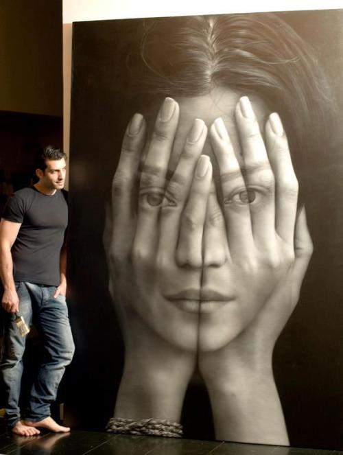 aumbrand:  Oil Painting by Armenia-born, New York based artist Tigran Tsitoghdzyan.