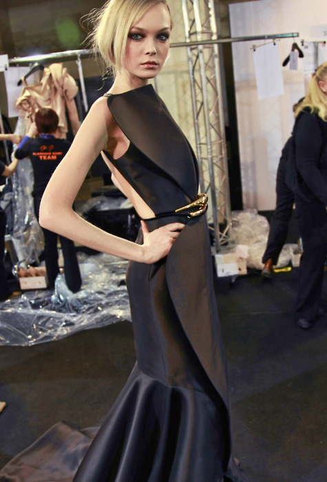 backstage stephane rolland haute couture spring summer 2011
