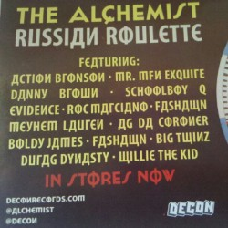 [New] @Alchemist Russian Roulette in stores now and also on #itunes #dope #fresh #funkyfresh #deconrecords #decon #new #newmusic #newhiphop #newpromos #work #iloveit (Taken with Instagram)
