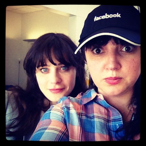 hellogiggles:  @sofifiicom @zooeydeschanel (Taken with Instagram at facebook)