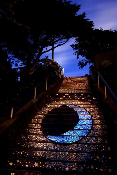 sfcitylights:  16th Avenue Stairs