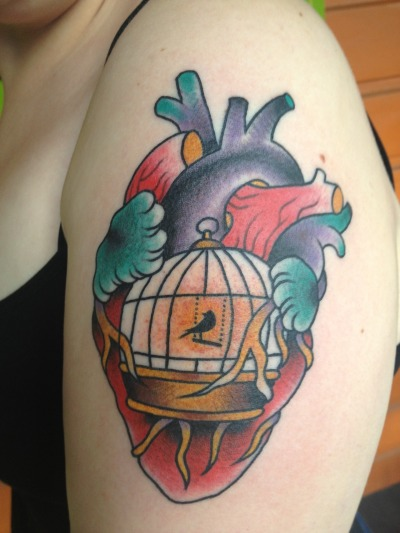 There is a bluebird in my heart and it wants to get out. Done by Henry Rodriguez at Oddball Studios, Portland OR.