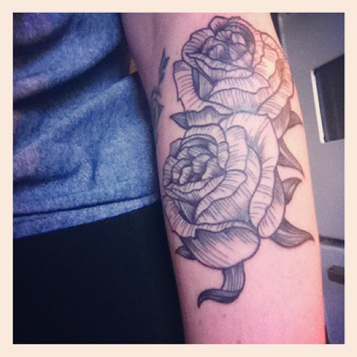 bblackcats:  Done by chuck at revolver tattoo // Olivia mew design. (Taken with Instagram)