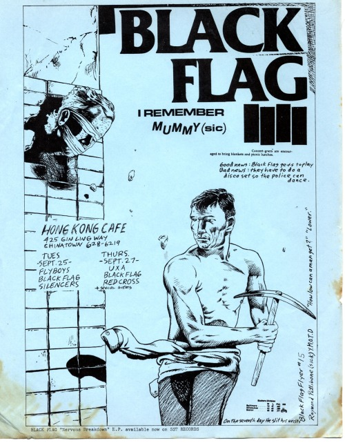 Good news: Black Flag gets to playBad news: they have to do a disco set so the police can dance.
